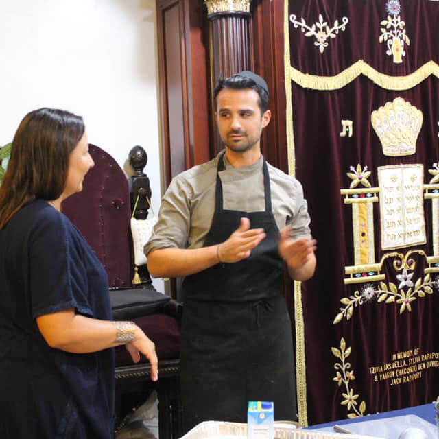 Kosher private chef certified mashgiach